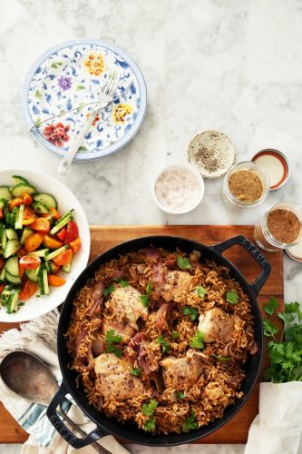 One-Pot Baharat Chicken and Rice
