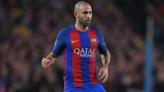 Mascherano out for four weeks with hamstring injury