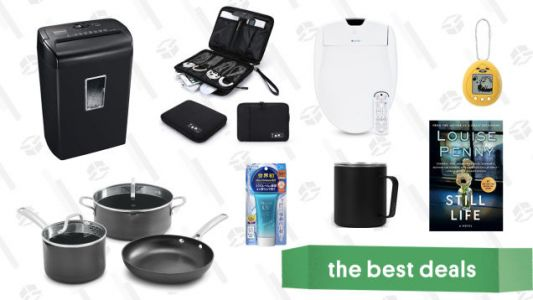 Sunday's Best Deals: Bidets, Cable Organizer Bag, Calphalon Cookware, Japanese Sunscreen, and More