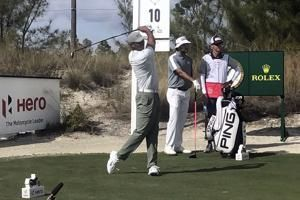 Reed builds 3-shot lead in Bahamas as Tiger rallies