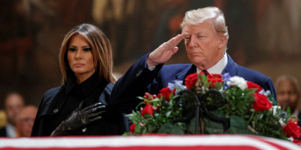 Trump offends Europe with diplomatic snub revealed at George H.W. Bush's funeral