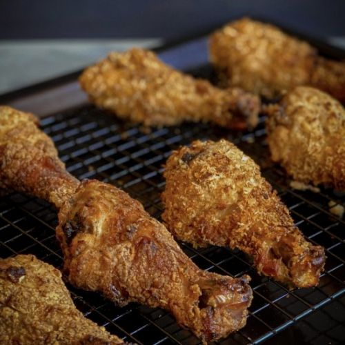 The Crunchiest Oven Fried Chicken