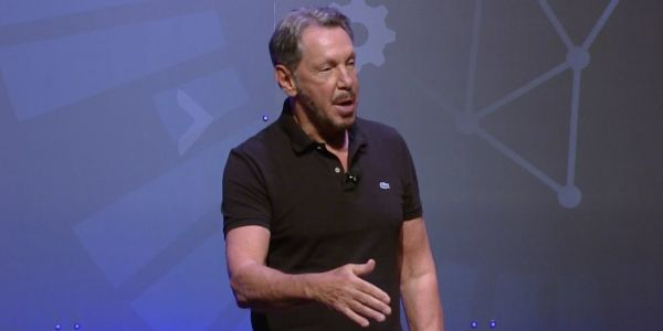 Oracle founder Larry Ellison says its 'embarrassing' for Amazon that it relies so heavily on Oracle's technology