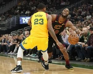 Bledsoe has 20 points, 12 boards and Bucks beat Cavs 108-92