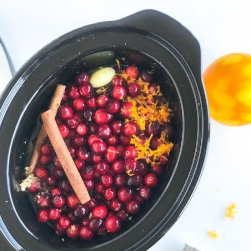 Punchy Slow Cooker Cranberry Sauce