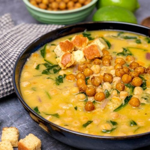 Creamy Spiced Chickpea Soup