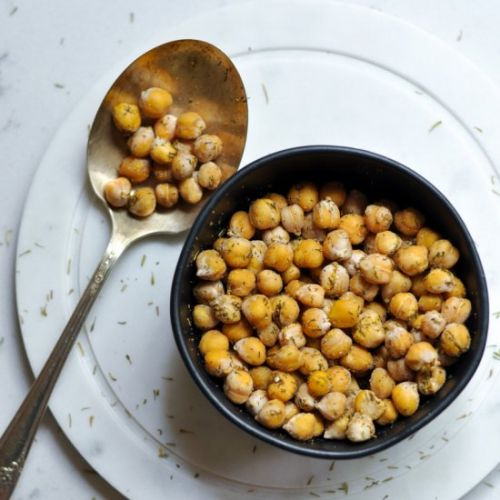 Healthy Roasted Chickpeas
