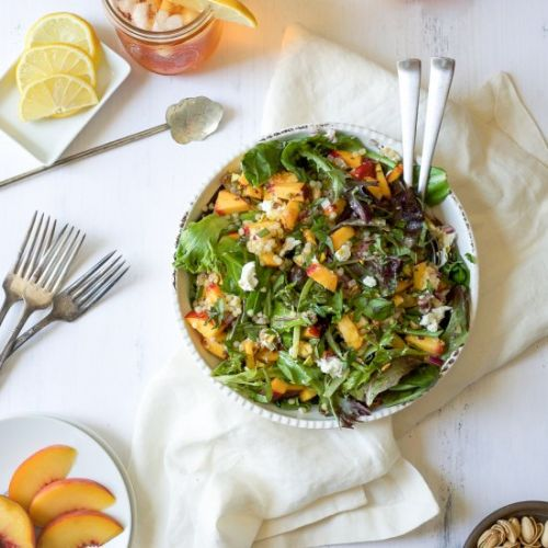 Summer Peach Salad with Couscous