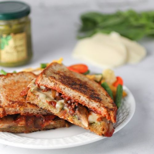 Loaded Caprese Grilled Cheese