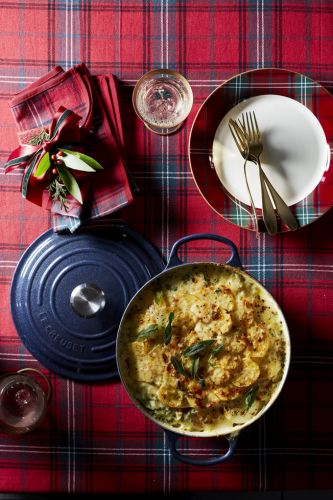 Scalloped Potatoes and Leeks with Herbs