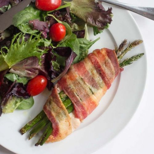 Stuffed Chicken with Asparagus