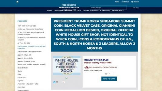 The White House Gift Shop Is Offering Discounts on Commemorative Coins for the North Korea Summit Trump Just Canceled