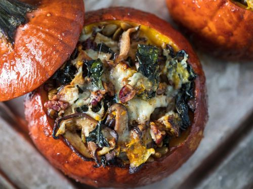 Thanksgiving Stuffed Roast Pumpkins