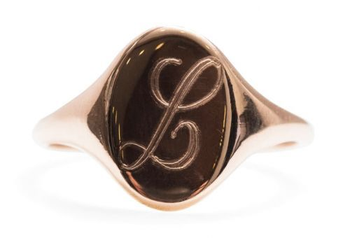 The Rose Gold Signet Ring Alyssa Just Added to Her Permanent Collection