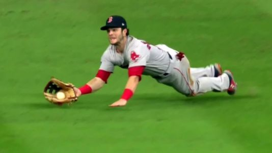 Watch the heart-stopped catch that clinched the win for the Red Sox