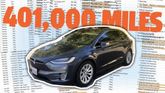 This Tesla Model X Has Driven Over 400,000 Miles. Here Are All The Parts That Had To Be Replaced