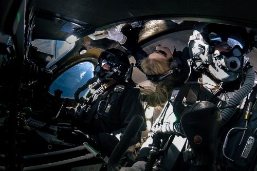 Virgin Galactic's First Passenger In Space