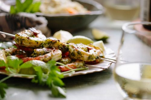 Citrus and Herb Grilled Shrimp with Vinho Verde Wine