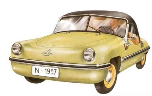 The 1957 Spatz is a charming little rear-engined microcar, but I'm pretty sure that, since it doesn'