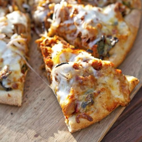 "BBQ Jackfruit Pulled ""Pork"" Pizza"