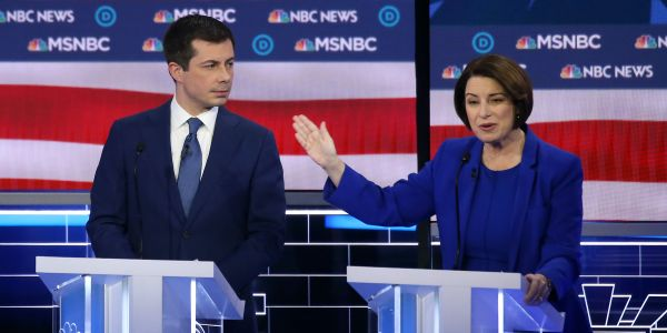 Amy Klobuchar and Pete Buttigieg clashed more than ever in the Vegas debate. These numbers show why