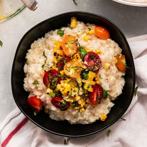 Summer Risotto with Corn & Tomatoes