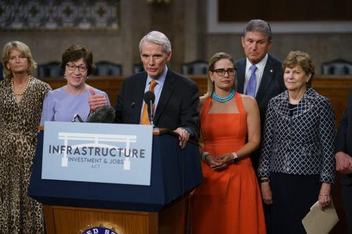 Senate takes next step on infrastructure, after floor drama
