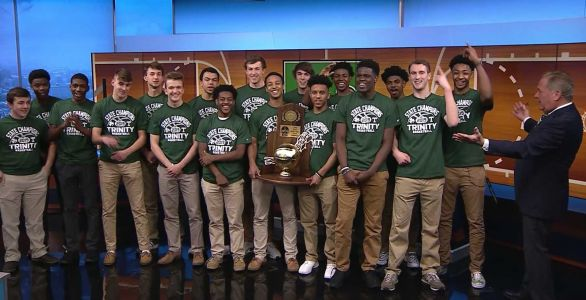 Trinity basketball discusses recent championship on WLKY's Sports Saturday