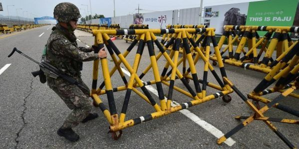 The US and South Korean military appear to be trying not to give North Korea an excuse for more provocations