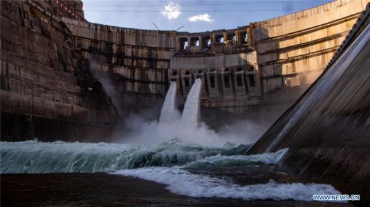 Baihetan hydropower station under construction in SW China