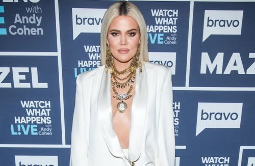 Khloé Kardashian Rocks Sequin Dress and Custom Yeezy Boots to Becca Cosmetics Makeup Launch