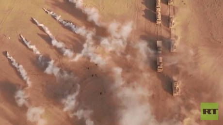 WATCH: Russia & post-Soviet allies stage MAJOR military drills near Afghan border