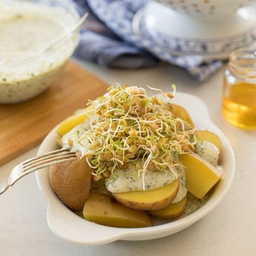 Potatoes with Herb Sauce
