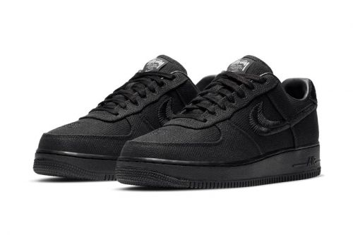 Take an Official Look at the Stüssy x Nike Air Force 1 in Black