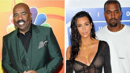 "Steve Harvey Exposes Kim Kardashian's Ability to Play 'Family Feud' - ""Kim Didn't Know Nothing!"""