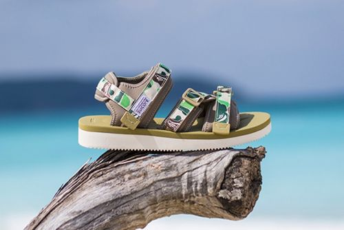 BAPE & SUICOKE Debut Camo-Heavy Sandals