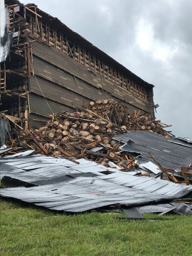 Bourbon barrel storage facility collapses in Kentucky