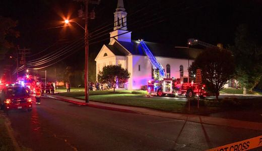 Church that firefighter was supposed to be married in bursts into flames