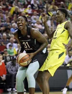 Stewart has double-double, Storm secure top seed in playoffs