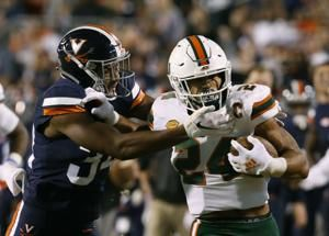 Virginia uses defense to beat No. 16 Miami, 16-13