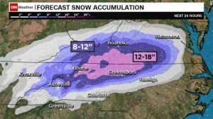 Weather alerts, advisories in Southeast U.S. after Sunday's storm, immobilizing snowfalls