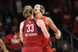 Meesseman ties career high, Mystics beat Aces, take 2-0 lead