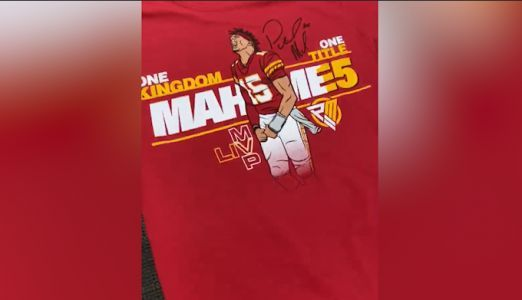 Limited edition Chiefs quarterback Patrick Mahomes Super Bowl MVP shirts released Tuesday