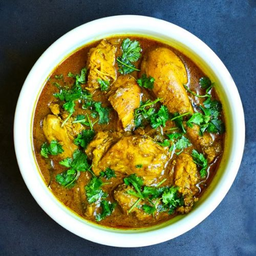Chicken Curry with Ground Peanuts