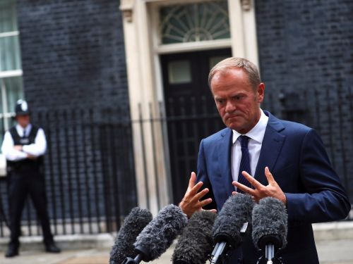 European Council President Donald Tusk says there has not been 'sufficient progress' in Brexit talks