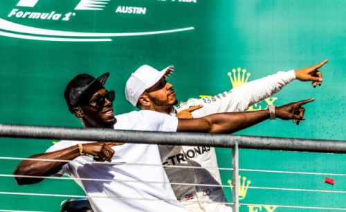 Just two very fast dudes celebrating in Austin