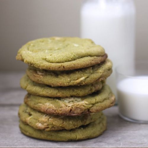 White Chocolate Ginger Matcha Cooki