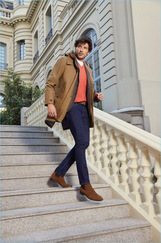 Andres Velencoso Dons Smart Style for Cortefiel Fall '18 Campaign