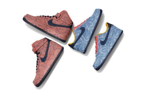 Levi's and Nike Rejoin for Customizable Denim Sneakers