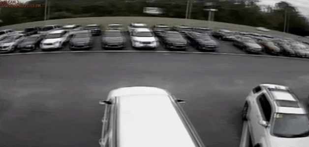 Camry Driver Does Incredible Unplanned Daredevil Jump Over A Dozen Parked Cars